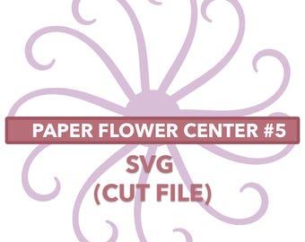 Flower Center #5 SVG File