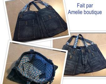 AOR blue jeans handbag