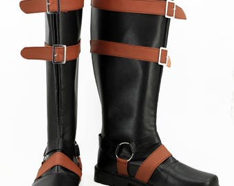 Men's PU leather MK X Scorpion cosplay shoes boots