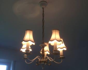 Vintage Chandelier White vintage lamp