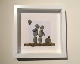 Pebble Art Picture personalised