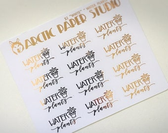 Water Plants - Functional Icons - FOILED Sampler Event Icons Planner Stickers