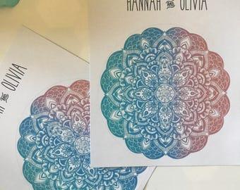 Mandala Shade of Blue & Pink / Bullet Journal