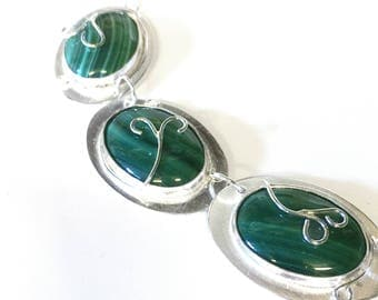 Malachite Stone Set Necklace
