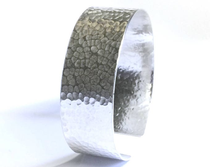 Hammered Finish Cuff Bangle