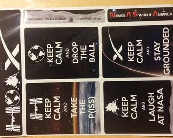 Flat Earth Memes & Maps vinyl Stickers