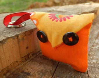 "Keychain ""little OWL"" fabric"