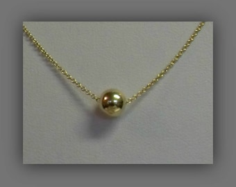 Gold Bead Necklace,Tiny Gold Bead Necklace,Tiny Gold Vermeil Bead Necklace,Tiny Simple Gold Bead Jewelry,Bridal Jewelry,Bridesmaid Jewelry
