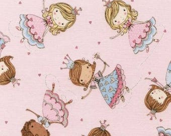 FREE GIFT with Purchase - Timeless Treasures Glitter Princesses/Pink/Cotton/Fabrics/ Sewing/ Quilting/ Nursery