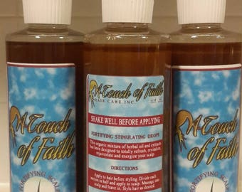 fortifying on the scalp leave in treatment.  @www.atouchoffaithhaircare.com