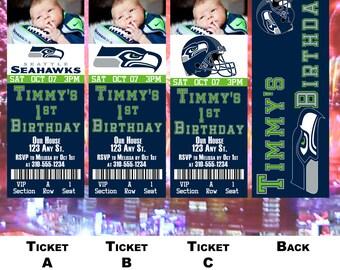 Seattle Seahawks Birthday Ticket Invitation