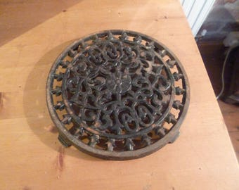 Antique Victorian or Edwardian Cast Iron Trivet Stand