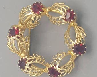 Vintage ruby red pin