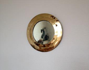 Round mirror - Morocco - vintage copper