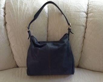 Liz Claiborne Leather shoulder Bag In Blue
