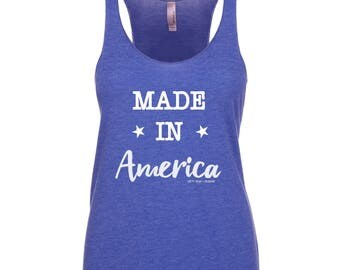 Made In America Racerback Tank