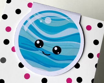 Magnetic Bookmark.  Planet Magnetic Bookmark. For books, planners and notebooks.