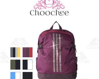 Bling ADIDAS Backpack Embellished With Beautiful Swarovski Crystals
