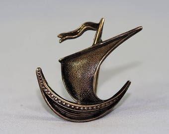 Norway Sterling Viking Ship Brooch