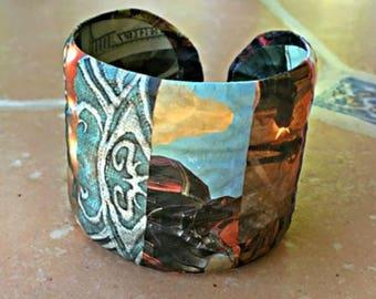 Decoupage Video Game Themed Bracelet