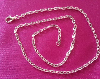 Silver chain lobster clasp