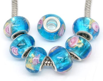 Lampwork Glass flower beads