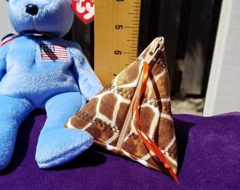 triangle purse, tiny purse, coin purse