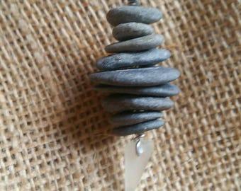 Surfer Style Pebble Cairn Pendant