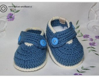 Crochet Shoes / Baby Boy Shoes / Baby Sneakers / Newborn Booties / Newborn Gift / Handmade Baby Shoes / Baby Shower Gift / Cute  Baby Gift