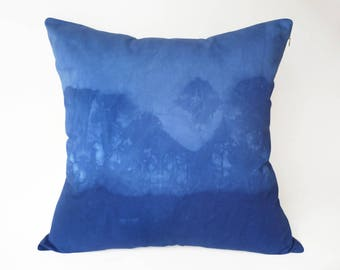 "Handmade cushion cover BLUE III, 50 x 50cm or 19.5"" x 19.5"""
