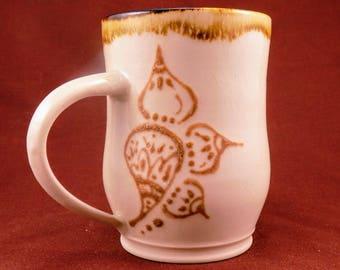 Wheel Thrown Henna Mug