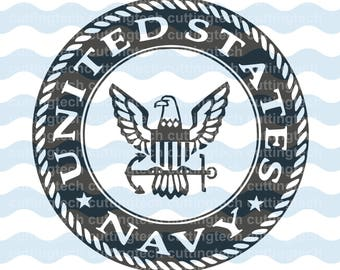 United States Navy Emblem logo SVG, PNG, dxf Cut Files for Silhouette Cameo/Portrait and Cricut Explore DIY Craft Cutters
