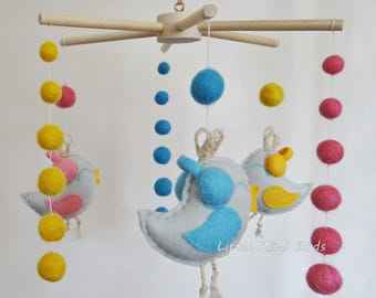Baby crib mobile Music lovers Baby mobile Exclusive mobiles Nursery decor Ceiling mobile Felt mobile Original mobile