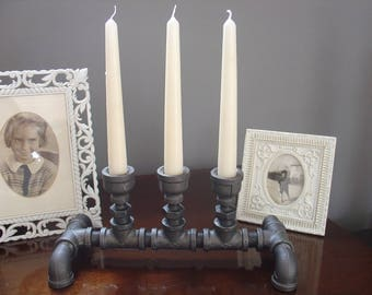 Gas Pipe Industrial Chic Candle Holder