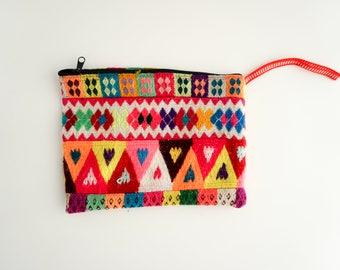 Genuine Peruvian Bag / Purse / Clutch / Makeup bag / Pencil Case