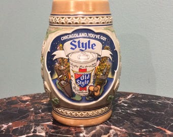 Vintage Old Style Heileman Beer Chicago Edition Beer Mug Limited Edition