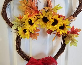 Mickey Mouse fall wreath