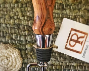 California Mission Olive Wood Wine Stopper