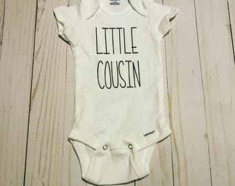 Little Cousin Bodysuit-Newborn bodysuit-cousin shirt-baby gift-new cousin