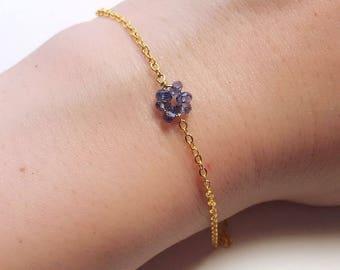 Amethyst/ Iolite Bead Bracelet