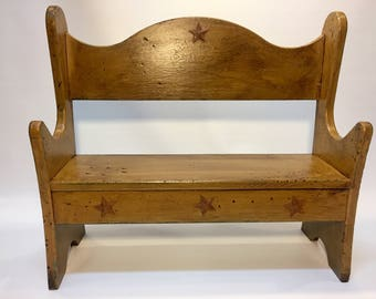 Country small decorative bench