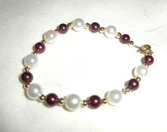 Glass Pearls Shades of Red and Pink bracelets