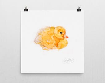 Resting duckling print
