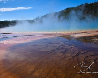 Rainbows at the Grand Prismatic Spring in Yellowstone