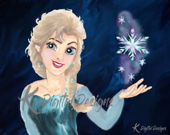 Disney's Queen Elsa Painting-INSTANT DIGITAL DOWNLOAD