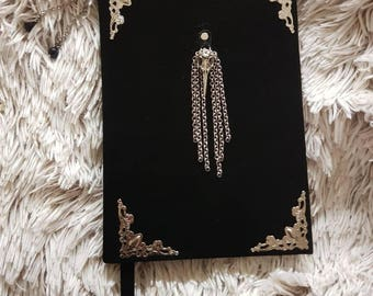 Suede notebook  The Skull of a Crow