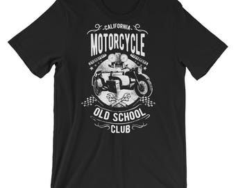Classic Series: California Motorcycle Old School Club Short-Sleeve Unisex T-Shirt