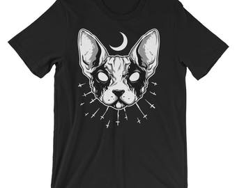 Black Metal Cat Short-Sleeve Unisex T-Shirt