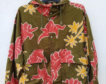 Rare !!! Vintage Hai Sporting Gear / Full Print Hoodie / Sweater Jacket