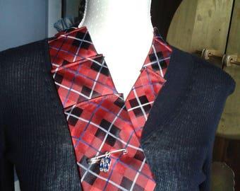 upcycled necktie Choker jewelry